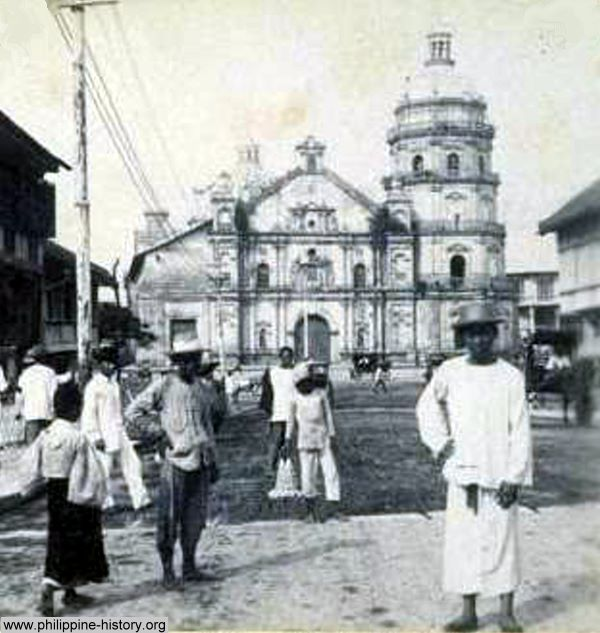 Manila's Binondo Church and convent circa 1890s.