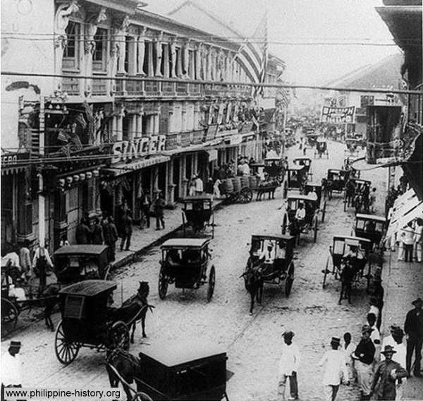 Old Photograph of Escolta, Manila circa 1898