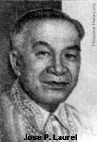 Jose P. Laurel, president during the Japanese occupation of the Philippines