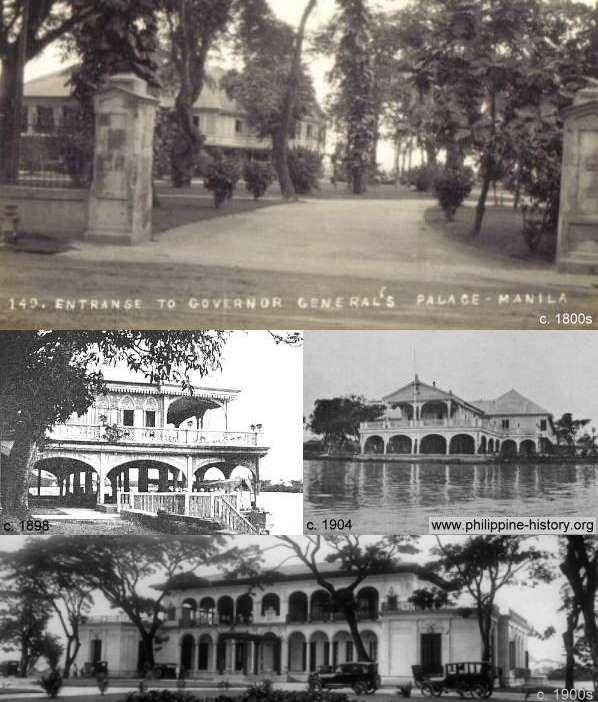 Alte Bilder des Malacanang Palace, Manila