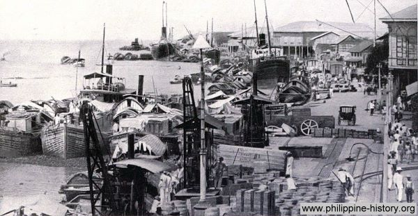 Picture of the Port of Manila circa 1899