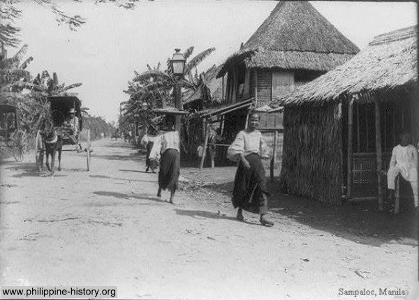Vintage photo of Sampaloc Manila, Philippines