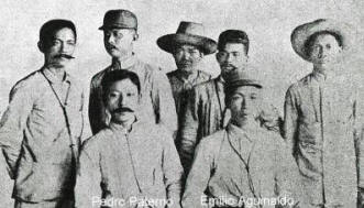 Pact of Biak-na-Bato with Pedro Paterno and Emilio Aguinaldo