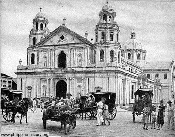 Old Photo Of Quiapo Church Manila